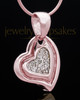 Rose Gold Plated Heart Trio Keepsake Jewelry