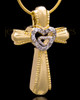 Gold Plated Cross of Love Keepsake Jewelry