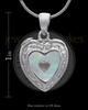 Sterling Silver Shimmer Heart Keepsake Jewelry