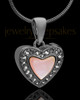 Black Plated Sunset Heart Keepsake Jewelry