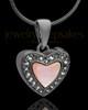 Black Plated Sunset Heart Keepsake Jewelry