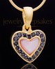 Gold Plated Sunset Heart Keepsake Jewelry