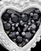 Silver Plated Darkness Heart Keepsake Jewelry