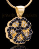 Gold Plated Night Pansy Keepsake Jewelry