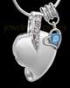 Sterling Silver December Weeping Heart Keepsake Jewelry