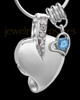 Sterling Silver December Weeping Heart Keepsake Jewelry