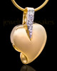Gold Plated Weeping Heart Keepsake Jewelry