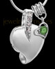 Sterling Silver May Weeping Heart Keepsake Jewelry