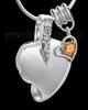 Sterling Silver November Weeping Heart Keepsake Jewelry