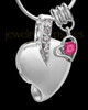 Sterling Silver October Weeping Heart Keepsake Jewelry