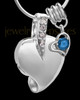 Sterling Silver September Weeping Heart Keepsake Jewelry