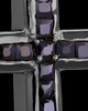 Black Plated Refined Cross Keepsake Jewelry