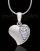 Sterling Silver Jeweled Heart Keepsake Jewelry