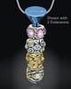 Blue Stainless Millenium Cremation Pendant
