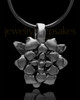 Black Plated Blossomed Keepsake Jewelry
