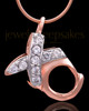 Rose Gold Plated Hugs and Kisses Keepsake Jewelry