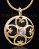 Gold Plated Clover Heart Keepsake Jewelry