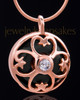 Rose Gold Plated Clover Heart Keepsake Jewelry