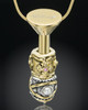 Gold Plated Stainless Millenium Cremation Pendant with Trusting Charm