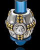 Blue Stainless Millenium Cremation Pendant with Sparkle Charm