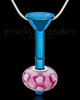 Blue Stainless Millenium Cremation Pendant with Kindly Charm