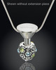 Stainless Millenium Cremation Pendant with Charmed Charm