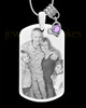 June Photo Engraved Stainless Steel Dog Tag Pendant With Chain