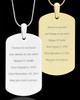 Photo Engraved Stainless Steel Dog Tag Pendant With Chain