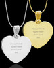 Photo Engraved Gem Heart Pendant Stainless Steel