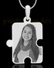 Photo Engraved Large Puzzle Pendant Silver Plated