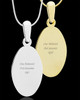 Photo Engraved Oval Pet Pendant Gold Plated over Stainless