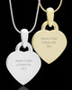 Photo Engraved Small Heart Pet Pendant Gold Plated over Stainless