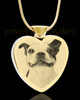 Photo Engraved Heart Gold Plated on Stainless Cremation Pet Pendant