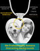 Photo Engraved Heart Stainless Cremation Pet Pendant