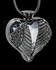 Black Plated Stainless Steel Clear Fond Emotions Jewelry Keepsake