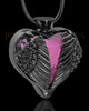 Black Plated Stainless Steel Purple Fond Emotions Jewelry Keepsake