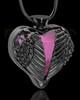 Black Plated Stainless Steel Purple Fond Emotions Jewelry Keepsake