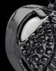 Black Plated Stainless Steel White Fond Emotions Jewelry Keepsake