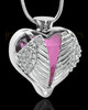 Stainless Steel Purple Fond Emotions Jewelry Keepsake