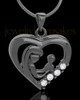 Black Plated Unconditional Heart Keepsake Jewelry