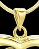 Gold Plated Unconditional Heart Keepsake Jewelry