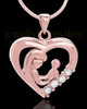Rose Gold Plated Unconditional Heart Keepsake Jewelry