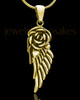 Gold Plated Flowered Wing Keepsake Jewelry