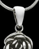 Sterling Silver Flowered Wing Cremation Pendant