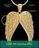 Gold Plated Wings of Grace Keepsake Jewelry