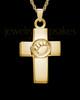 Ash Keepsake Gold Plated Dedication Paw Cross Keepsake
