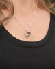 Sterling Silver Reflective Heart Cremation Pendant