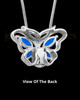 Sterling Silver Bejeweled Butterfly Cremation Pendant