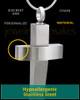 Stainless Steel Jewelry Urn Modern Cross