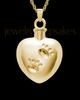 14k Gold Cremation Jewelry By Your Side Heart Keepsake